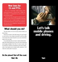 Let's talk mobile phones and driving.
