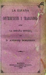 la españa contribuyente y trabajadora - Biblioteca de Historia ...