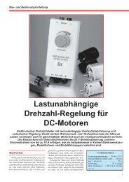 Lastunabhängige Drehzahl-Regelung für DC-Motoren - ELV