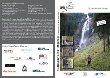 Flyer Iffigenlauf - Skiclub Lenk