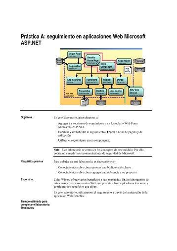 Práctica A: seguimiento en aplicaciones Web Microsoft ... - Willy .Net