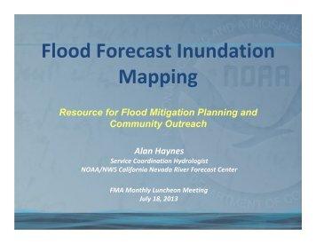 Flood Forecast Inundation Mapping - Floodplain Management ...