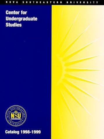 NSU Undergradute Catalog - College of Arts and Sciences - Nova ...