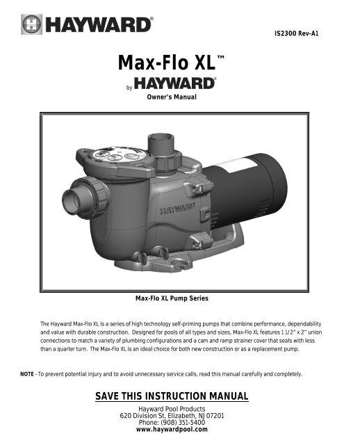 Mypool Hayward Max Manual Guide