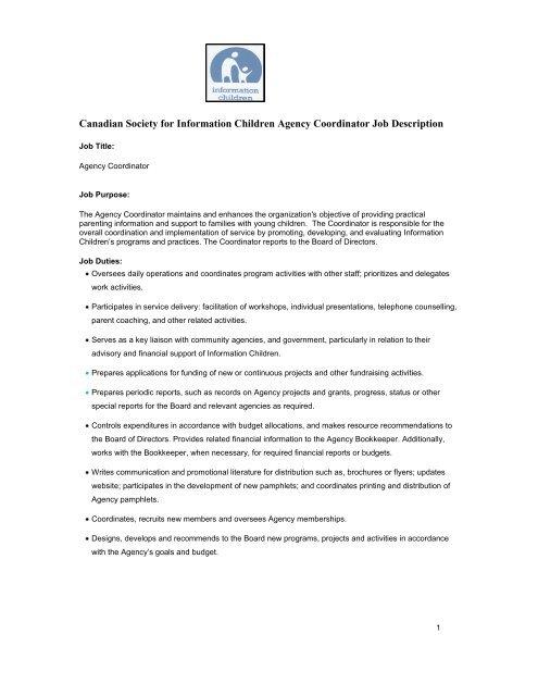 Human Resources Manager Job Description Sample - School of
