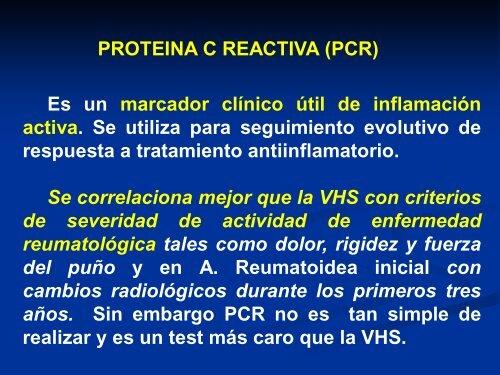 Proteina c reactiva pcr baja