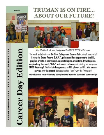 Career Day Newsletter - Grand Prairie Independent School District