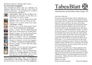 TabeaBlatt 16, Sommer 2006 - Haus Tabea