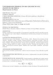 Súmula - Instituto de Física - UFRGS