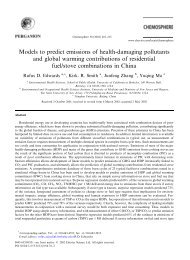 Models to predict emissions of health-damaging pollutants and ...