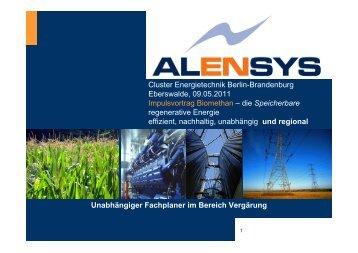 Vortrag_Alensys - Cluster Energietechnik