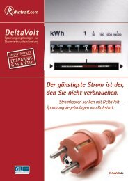 Prospekt DeltaVolt - Ruhstrat GmbH