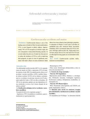 Enfermedad cerebrovascular y estatinas Cerebrovascular ... - SciELO