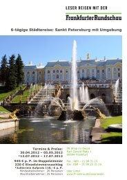 6-tägige Städtereise: Sankt Petersburg mit Umgebung