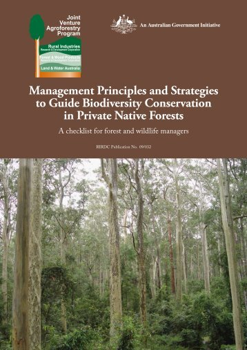 Management Principles and Strategies to Guide Biodiversity ...
