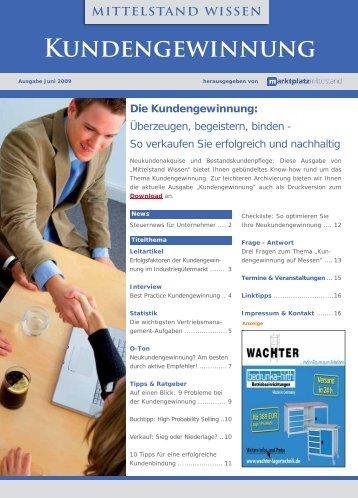 Kundengewinnung - Unternehmer.de