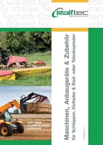 Maschinen, Anbaugeräte & Zubehör - AGRAVIS Technik Weser ...