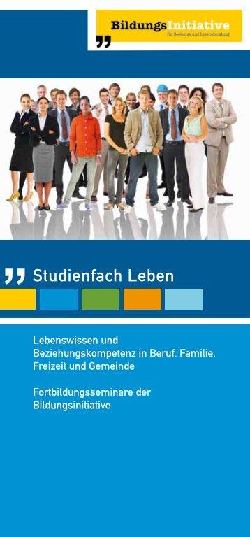 Studienfach Leben - Die Bildungsinitiative