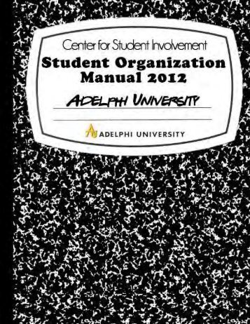 Student Organization Manual (PDF 5MB) - Campus Life - Adelphi ...