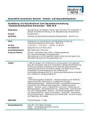 Ausbildung von Koordinatoren nach Baustellenverordnung ...