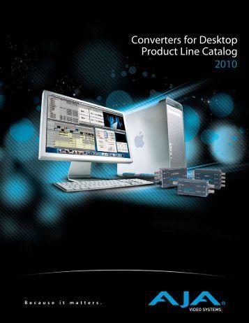 Converters for Desktop Product Line Catalog 2010 - Sports Video ...
