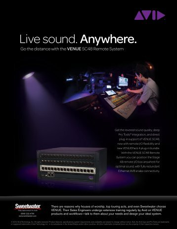 Live sound. Anywhere. - medialink - Sweetwater.com
