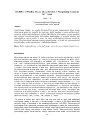 The Effect of Wind on Charge characteristics of Precipitating Systems