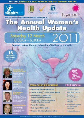 The Annual Women's Health Update
