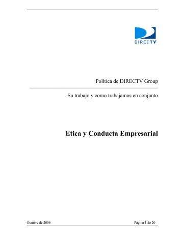 Etica y Conducta Empresarial - Directv