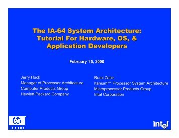 The IA-64 System Architecture - DIG64
