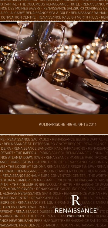 kulinarische highlights 2011