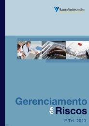 Gerenciamento de Riscos 1T13 - Banco Votorantim