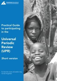 Universal Periodic Review (UPR) - Christian and Civil Society