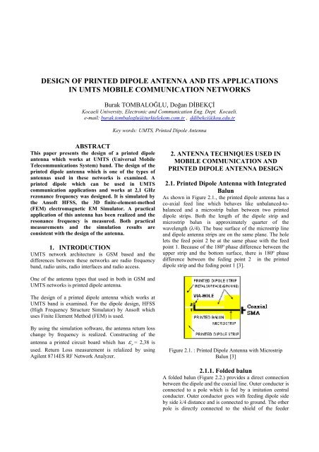 design of printed dipole antenna and its applications - emo