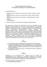 Kooperationsvereinbarung - Netzwerkarbeit des Jugendamtes ...