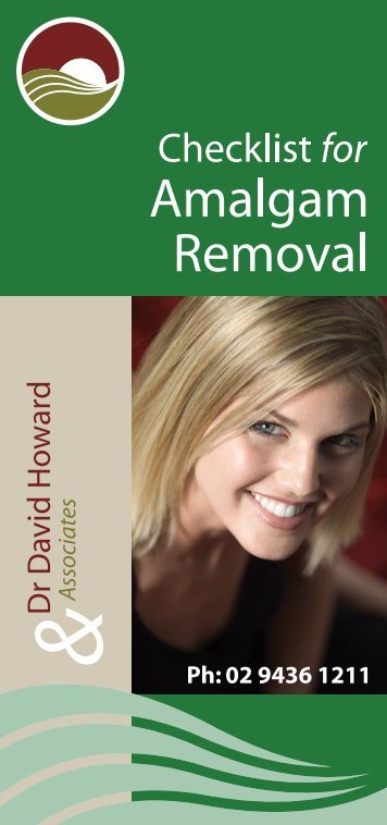 Amalgam Removal - Dr David Howard - Holistic Dentistry