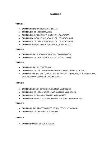 Reglamento de Mercados y Plazas para el Municipio de Carmen - H ...
