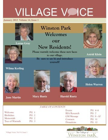 Winston Park Welcomes our New Residents! - Schlegel Villages