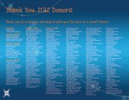 Thank You, 2012 Donors - Boys and Girls Clubs of Huntington Valley