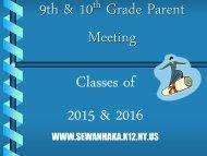 9th & 10th Grade Psrent Night Presentation PDF