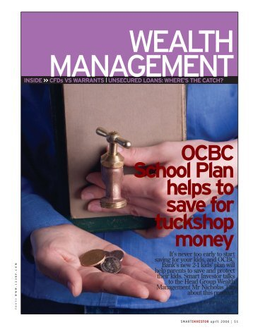 OCBC School Plan helps to save for tuckshop money - OCBC Bank