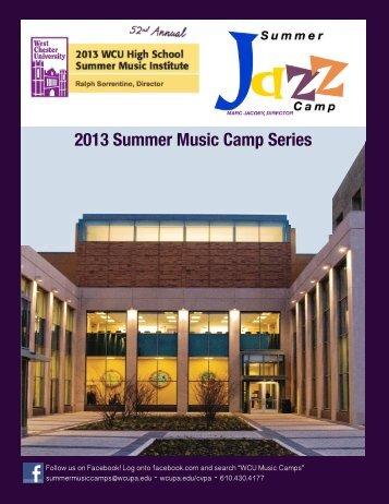 Summer 13 Camp Brochure - West Chester University
