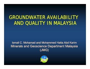 Groundwater - Akademi Sains Malaysia