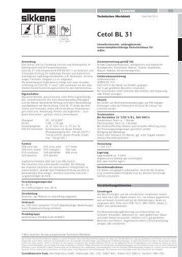 Technisches Merkblatt - Sikkens Shop