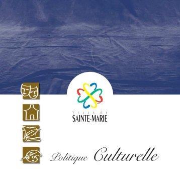 Politique Culturelle - Ville de Sainte-Marie