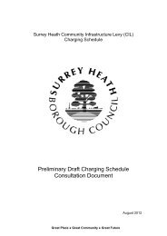 CILPrelimDraftConsultationDocument - Surrey Heath Borough Council