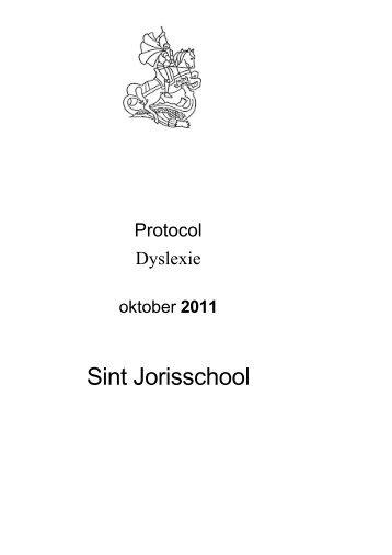 Download het dyslexieprotocol - St. Jorisschool Nijmegen