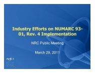 Industry Efforts on NUMARC 93-01, Rev. 4 Implementation. - NRC