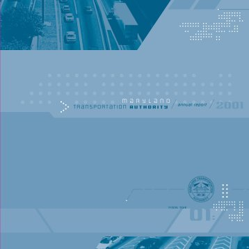 Annual Report Fiscal Year 2001 - Maryland Transportation Authority