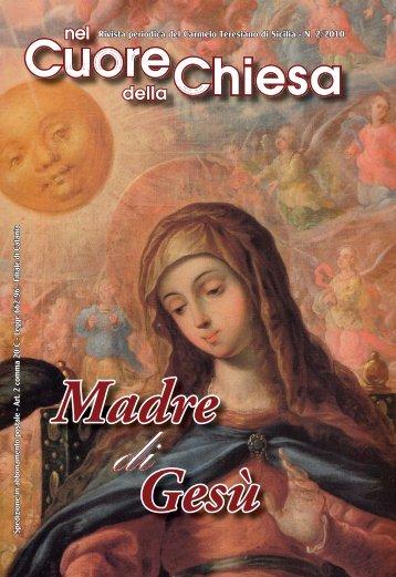 rivista n. 2/2010 (pdf) - Carmelitani Scalzi di Sicilia
